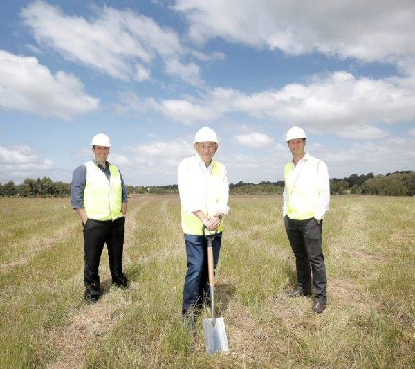 Andrew Toynton,  Director of Sales, Peter Icklow, CEO, and Dax McBurney, Director of Development and Construction, at The Meadows, Bardia